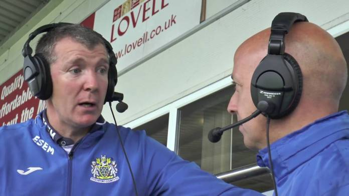 Gannon talks with Jon Keighren on 107.8 Pure FM (image from YouTube)