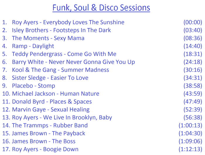 Funk, Soul, Disco