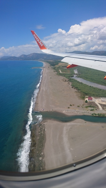 Coming in for landing at Dalaman Airport