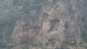 The mesmerising tombs of Kaunos carved out of the cliffside