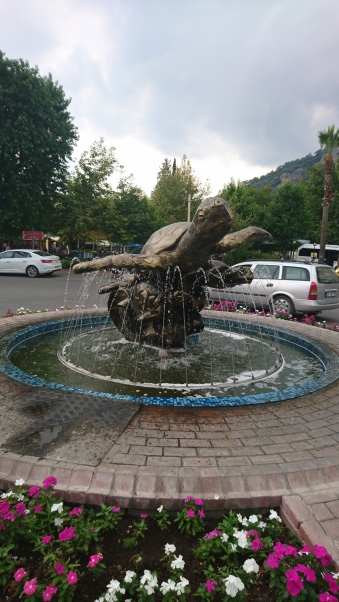 The turtle fountain in Dalyan