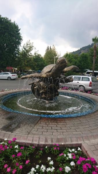 The turtle fountain in Dalyan