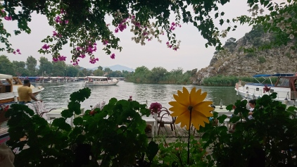 A view of the river from the restaurant that I ate seafood casserole at