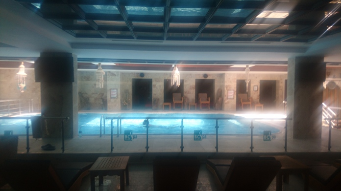 Inside the spa itself
