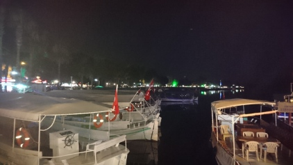 The river docks at night