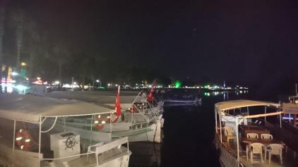The river docks at night