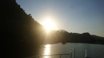 The cruise up to Köyceğiz Lake